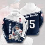 Mlb Boston Red Sox Dustin Pedroia 3d All Over Print Hoodie, Zip-Up Hoodie