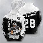 Oakland Raiders Josh Jacobs 3D All Over Print Hoodie, Zip-up Hoodie