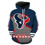 NFL Houston Texans 3D All Over Print Hoodie, Zip-up Hoodie