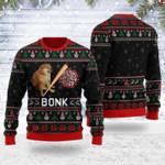 Bonk Coronavirus Meme Ugly Christmas Sweater, All Over Print Sweatshirt