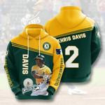 Oakland Athletics Khris Davis 3D All Over Print Hoodie, Zip-up Hoodie