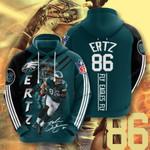 Philadelphia Eagles Zach Ertz 3D All Over Print Hoodie, Zip-up Hoodie