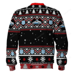Santa Claus Riot Police Ugly Christmas Sweater, All Over Print Sweatshirt