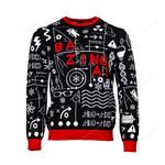 Official The Big Bang Theory 'Bazinga' Ugly Christmas Sweater, All Over Print Sweatshirt