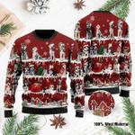 For Husky Lovers Ugly Christmas Sweater, All Over Print Sweatshirt