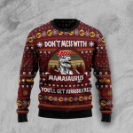 Don't Mess With Mamasaurus Ugly Christmas Sweater, All Over Print Sweatshirt