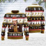 Dear Santa I've Been Nice Leo DiCaprio Ugly Christmas Sweater, All Over Print Sweatshirt
