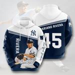 New York Yankees #45 3D All Over Print Hoodie, Zip-up Hoodie
