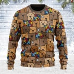 Autism Dog Ugly Christmas Sweater, All Over Print Sweatshirt