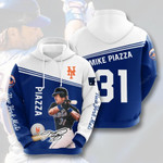 New York Mets #31 3D All Over Print Hoodie, Zip-up Hoodie