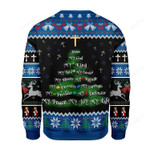 Jesus Christmas Tree Gold Cross Ugly Christmas Sweater, All Over Print Sweatshirt