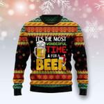 Beer Season Ugly Christmas Sweater, All Over Print Sweatshirt