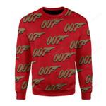 007 Detective Ugly Christmas Sweater, All Over Print Sweatshirt