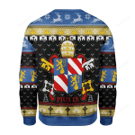Pope Pius IX Coat Of Arms Ugly Christmas Sweater, All Over Print Sweatshirt