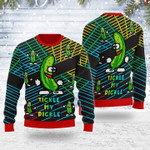 Tickle My Pickle Ugly Christmas Sweater, All Over Print Sweatshirt