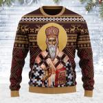 St. Vasilije Of Ostrog Ugly Christmas Sweater, All Over Print Sweatshirt