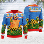 Leo Running With Water Gun Ugly Christmas Sweater, All Over Print Sweatshirt