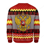 Russia Coat Of Arms  Ugly Christmas Sweater, All Over Print Sweatshirt