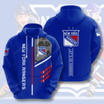 New York Rangers 3D All Over Print Hoodie, Zip-up Hoodie