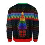 LGBT Christmas Tree Ugly Christmas Sweater, All Over Print Sweatshirt