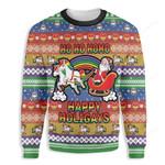 Ho Ho Ho Homo Happy Holigays Ugly Christmas Sweater, All Over Print Sweatshirt