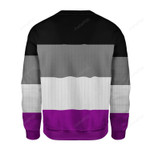 Asexual Pride Flag Ugly Christmas Sweater, All Over Print Sweatshirt