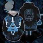 Gravity Falls - Bill Cipher Wheel 3d All Over Print Hoodie, Zip-Up Hoodie