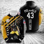 Pittsburgh Steelers Troy Polamalu 3d All Over Print Hoodie, Zip-Up Hoodie
