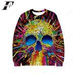 Funny Moletom Hip Hop Skull Ugly Christmas Sweater, All Over Print Sweatshirt
