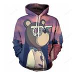 Cartoon Animals Bear 3d All Over Print Hoodie, Zip-Up Hoodie