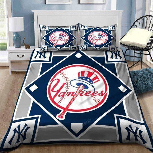 New York Yankees Duvet Cover Bedding Set - JustaPOD