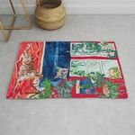 Red Interior With Borzoi Dog And House Plants Painting Rug RBSMT TTVNYVZ