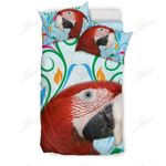 Red And Green Macaw Parrot Bedding Set PAOQ YUY BUBL