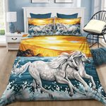 The Horse Runs In The Sunset Bedding Set PCRP YUY BUBL