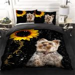 Yorkshire Terrier Magic Sunflower Bedding Set PBAF YUY BUBL