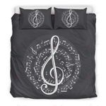 Music Note White Bedding Set PCIP YUY BUBL