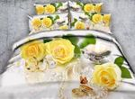 Yellow Rose And Butterfly D Bedding Set PBVJ YUY BUBL