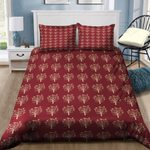 Mardi Gras Carnival The Birds And The Beads In Red Bedding Set PAXN YUY BUBL