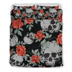 Red Rose Grey Skull Bedding Set PAXI YUY BUBL