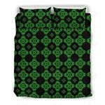 Celtic Knot Green Neon Bedding Set PBIW YUY BUBL