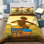 African Woman Loves Music Bedding Set PCHF YUY BUBL