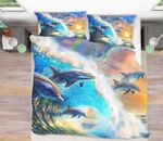 Dolphin Wave Bedding Set PBGO YUY BUBL
