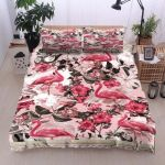 Flamingo And Floral Bedding Set PAZH YUY BUBL