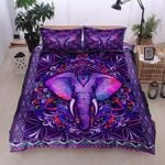Bohemian Mandala Purple Elephant Bedding Set PBTI YUY BUBL