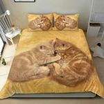 Yellow Couple Cat Bedding Set PAQM YUY BUBL