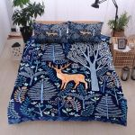 Deer In Forest Pattern Bedding Set PAUH YUY BUBL