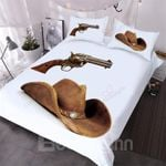 A Cowboys Gun And Hat Bedding Set PAJH YUY BUBL