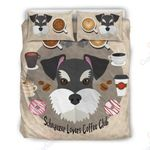 Coffee And Schnauzer Lovers Bedding Set PCOB YUY BUBL