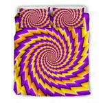 Yellow Twisted Moving Optical Illusion Bedding Set PAYF YUY BUBL