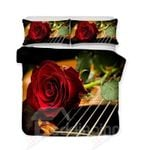 A Red Rose On The Guitar String Bedding Set PAVG YUY BUBL